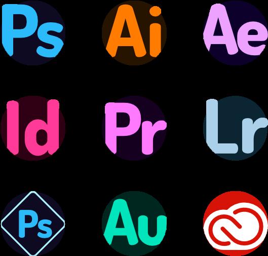 Grafik lavet med adobe illustrator photoshop lightroom indesign premiere pro