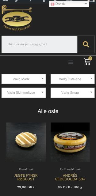 www.ostenvedkultorvet.dk // Resultatet er en webshop med økonomi, fragt og betalingssystemer integreret i én WordPress hjemmeside.