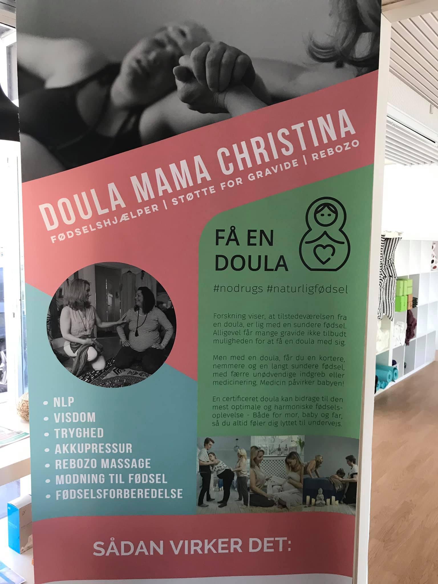 Pull-up til messestand - Doula Mama Christina